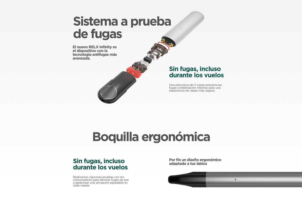 relx infinity fugas